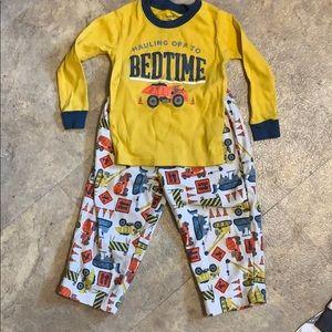 Boys construction truck pajamas